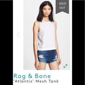 "rag & bone ""Atlantis"" mesh tank, like new"